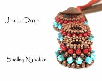 Jamba Drop Necklace  DIY Kit  -  Antique Copper/Turquoise 2X
