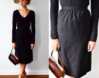 Vintage Black Skirt, Vintage Skirt, 1960s Black Skirt, Miss Renfrew, Holt Renfrew, Black Skirt