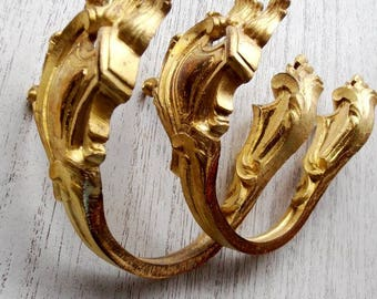 French Antique Gilded Bronze Curtain Tie Backs curtain holders