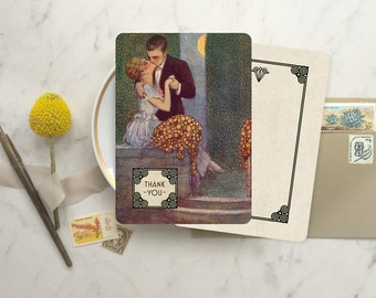 50% OFF Thank You Cards, Thank You Notecards, Wedding Thank You Cards, Silhouette Wedding, Thank You Notes, Zelda Fitzgerald