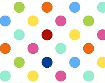 Bright Polka Dot from the Basic Brights and Pastels line for Windham Fabrics - Full or Half Yard Bright Dots on White