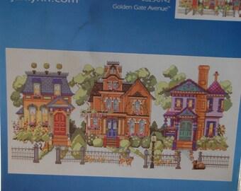 GOLDEN GATE AVENUE Janlynn Cross Stitch Pattern