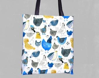 Tote Bag Chicken Pattern