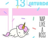 Nap Like A Boss - Sprinkles Lazy Day Planner Stickers