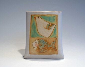 Bird and Fish-  wall pocket