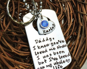 Personalized Daddy/Daughter Keychain and Necklace