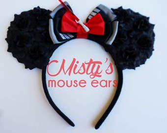 Inspired Darth Vader Star Wars Rose Mouse Ears
