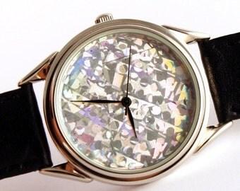 ON SALE 25% OFF Watch hologram, quartz watch, mens watches, womens watches ladies watches blue hologram watch,