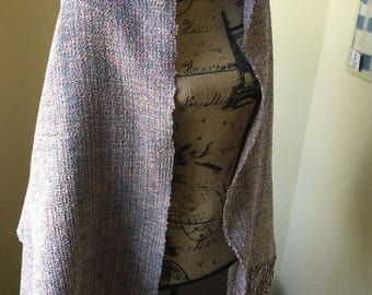 Handwoven Spring Cotton and Rayon Shawl
