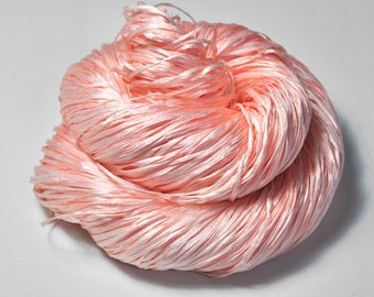 Old bleached plastic flamingo OOAK  - Silk Tape Lace Yarn - SUMMER EDITION