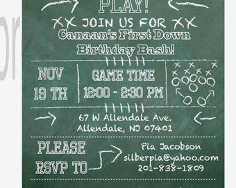 Football Tailgate Party Invitation, Set of 10 with envelopes Professionally Printed