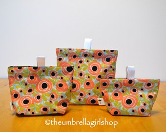 Ready to ship-Spring Flowers Reusable Snack Bags - Set of 3