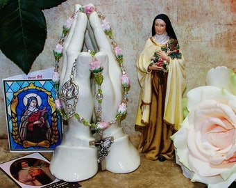 St. Therese of Lisieux One-Decade Catholic Rosary - Patron Saint of Flower Growers and Florists, Aviators, AIDS Patients and Against Illness