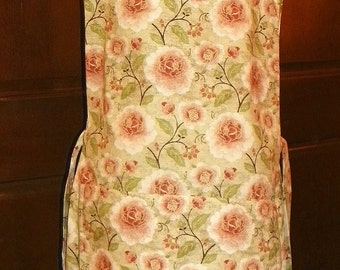 Kitchen Cobbler Lined Apron Smock Indian Peacock Peonies Handmade for Kitchen Cooking Craft Activities Excellent Clothes Protector