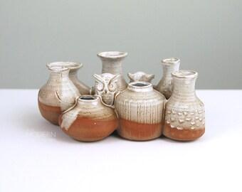 Vintage Takahashi Japan Owl Bud Vase Sculpture