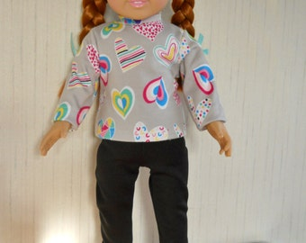 "18"" Doll Leggings with Long Sleeve Top for American Girl Type Dolls"