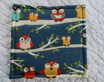 Owls Hot Pad/mini quilt/pot holder
