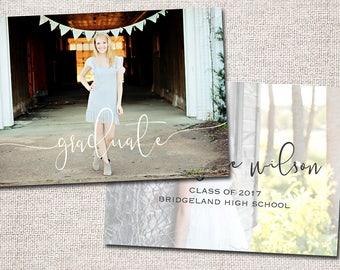 Graduation Announcement, Graduation Invitation, Photo Graduation Announcement, Graduation Party. Grad Party Invite: PRINTABLE (Amelia)