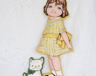 Old Fashioned Stuffed Cloth Doll