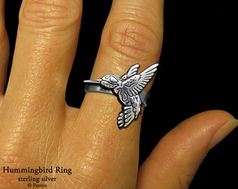 Hummingbird Ring Sterling Silver