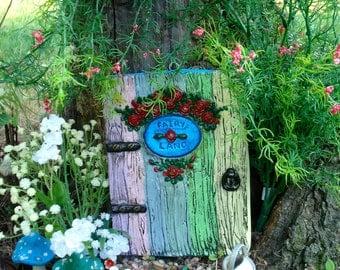 Large fairy door set fairy garden kit garden fairy doors for Rainbow fairy door