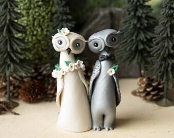 Owl Wedding Cake Topper by Bonjour Poupette