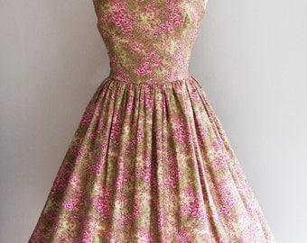 1950s Meadow Print Dress