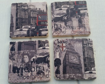 London Inspired City Coaster Set of 4 Tea Coffee Beer Coasters