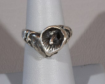 Antique Art Nouveau Sterling Silver Calla Lily Ring Size 5.5 RESERVED