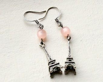 Eiffel Tower Earrings Pink Eiffel Tower Earrings French Earrings Paris Jewellery
