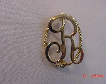 Vintage Initial R Brooch 17 - 315