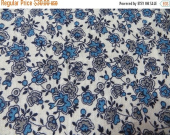 ON SALE Vintage Feedsack Fabric-Floral-Full Sack-Unopened- Feed sack-1930's-Blue Floral