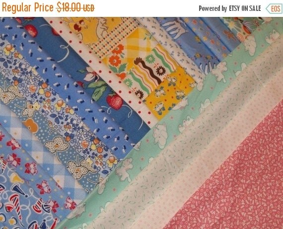 ON SALE Reproduction Feedsack Fabric Quilt Squares-Aunt Grace-Darlene Zimmerman-Marcus Brothers-RJR-Clothesline-48 diffrent patterns