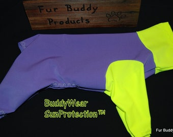 UPF50 Sun Protection from the harmful Solar rays.. A Suit for American Hairless Terriers, Chinese Crested, Xolos Sizes from 10 - 22""