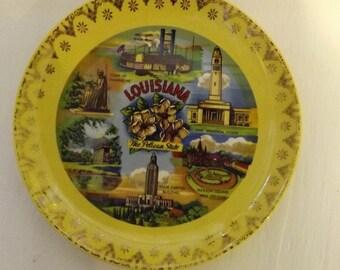 Souvenir Louisiana State  Plate