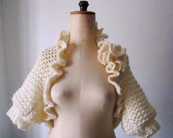 Crochet Bolero Pattern, Crochet Pattern Shrug, Shrug Bolero Pattern with Crochet Flower, 215