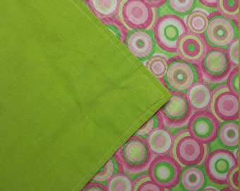 Nursing Cover, Breastfeeding Feeding Cover up, Nursing cover up, Pink and Green Circles- Ready to Ship