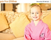 SALE Children's Monogrammed Robe Flower Girl Robe Kid's Robe Personalized Robe Waffle Robe Kimono Spa Robe Personalized Bridesmaids Gift