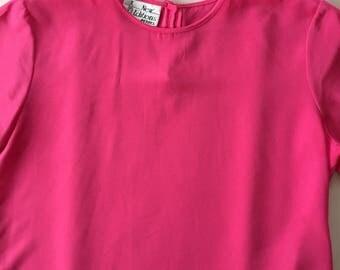 SALE...rose pink crop top | basic top