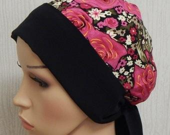 Cancer head wear, chemo head wrap, chemotherapy head scarf, hair loss cap, surgical bonnet, alopecia hair scarf, pink women's headscarf