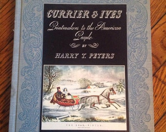 Vintage 1942 Currier & Ives Printmakers to the American People Book