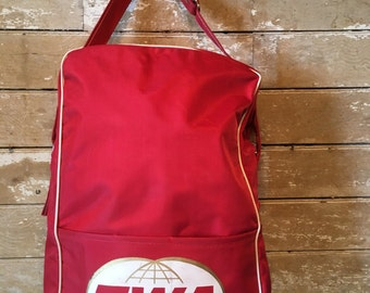 Vintage Original TWA Travel Carry On Nylon Bag 1960-70s