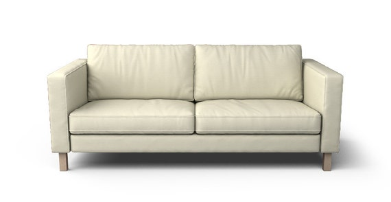 ikea karlstad sofa 3 seater slipcover only in kino natural. Black Bedroom Furniture Sets. Home Design Ideas