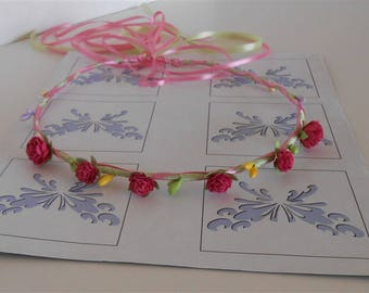 Rose Circlet Flower Wreath Halo Wedding Prom Hair Wreaths Handmade Special Occasions Hair Accessories Colorful Hair Wreaths Crowns Halos