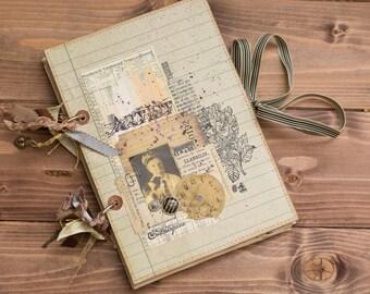 Vintage style handmade journal/diary