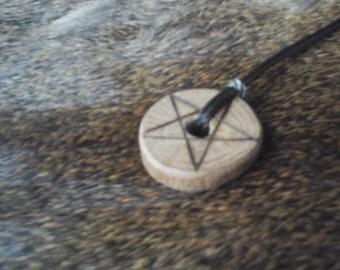 Oak Pentacle Pendant