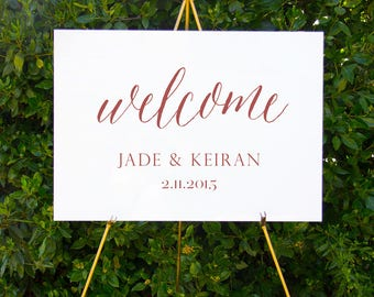 Classic calligraphy welcome sign | Printable wedding signage