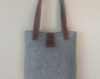 Felt: Large and Leather Bag