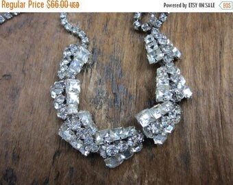 On Sale Rhinestone 1960s Necklace. Glitz Glam and all that Glitters