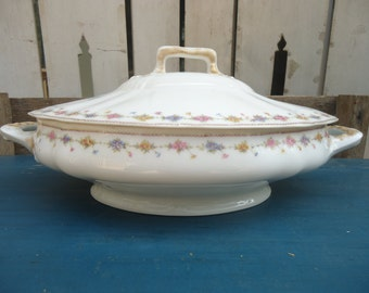 Antique Theodore Haviland Limoges France Covered Dish